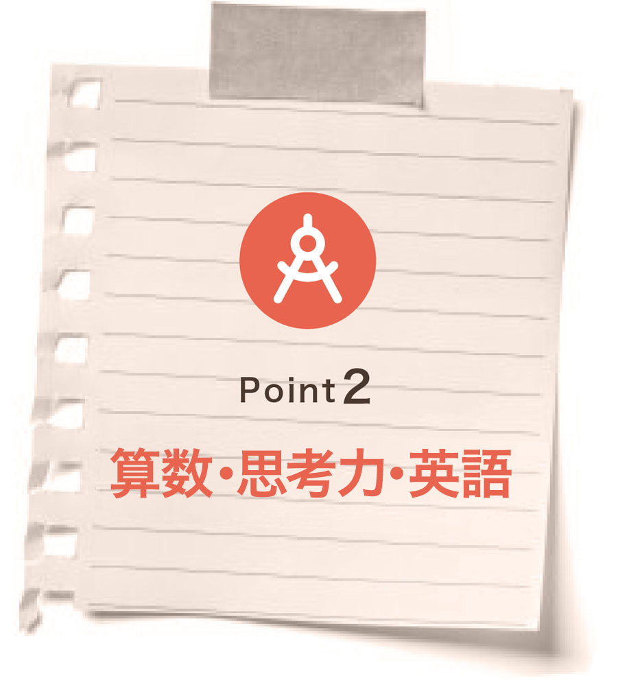Point2 算数・思考力・英語